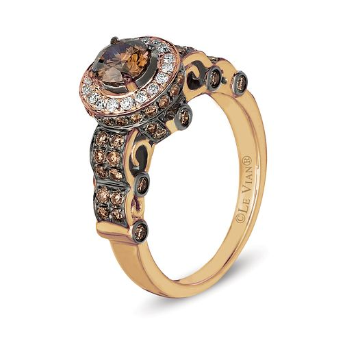 Le Vian 14ct Strawberry Gold Chocolate Diamond Ring - Product number 6356524