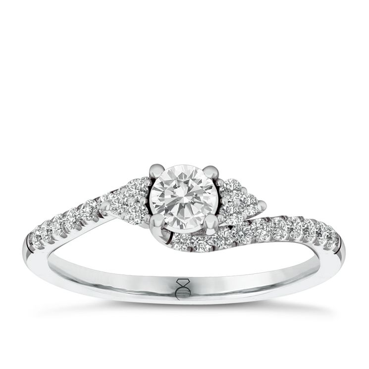 The Diamond Story 18ct White Gold 0.50ct Diamond Ring - Product number 6356761