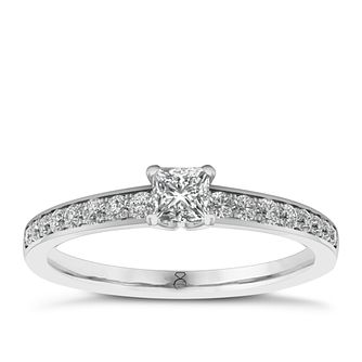 The Diamond Story 18ct White Gold 1/2ct Diamond Ring - Product number 6359523