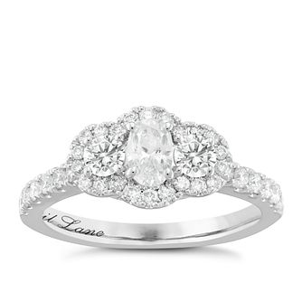 Neil Lane Bridal 14ct White Gold 0.90ct Diamond Cluster Ring - Product number 6361021