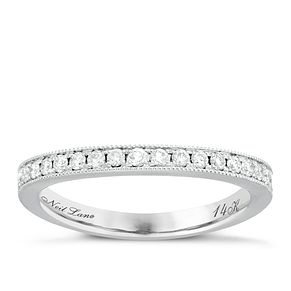 Neil Lane Bridal 14ct White Gold 0.29ct Diamond Shaped Band - Product number 6361676