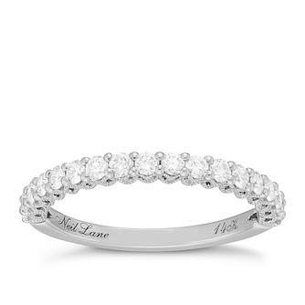 Neil Lane Bridal 14ct White Gold 0.50ct Diamond Shaped Band - Product number 6362206