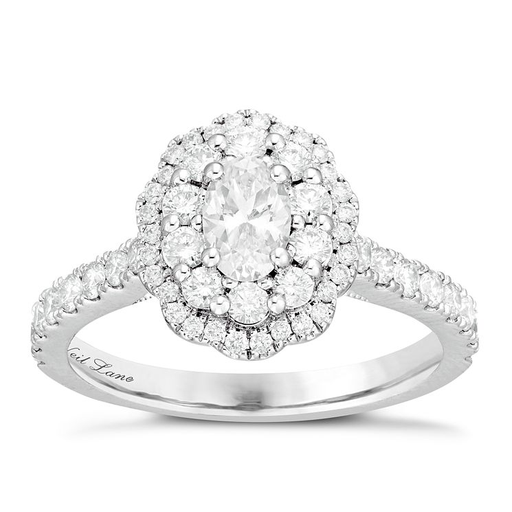 Neil Lane Bridal 14ct White Gold 1.14ct Diamond Halo Ring - Product number 6362591