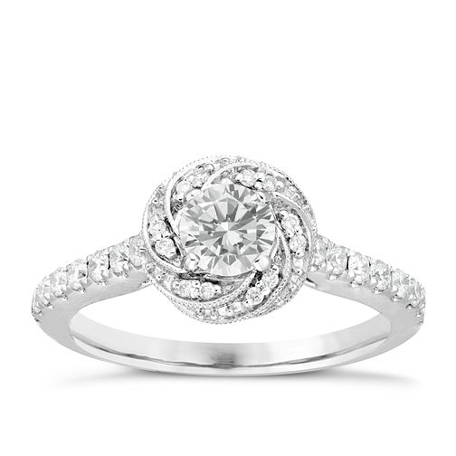 Neil Lane Bridal 14ct White Gold 0.75ct Diamond Swirl Ring - Product number 6362729