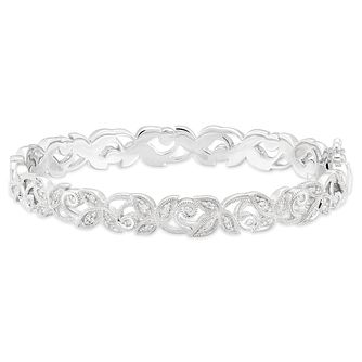 Neil Lane Designs Sterling Silver 0.29ct Diamond Vine Bangle - Product number 6362877
