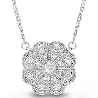 Neil Lane Designs Sterling Silver 0.14ct Diamond Pendant - Product number 6362885