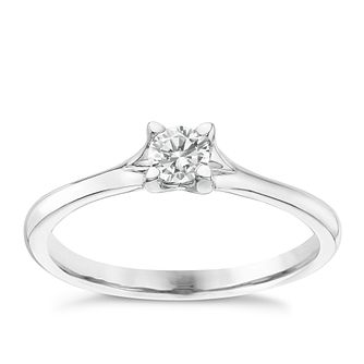 Platinum 0.25ct Diamond Solitaire Ring - Product number 6363423