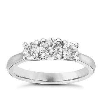 Platinum 1ct 3 Stone Diamond Ring - Product number 6365140
