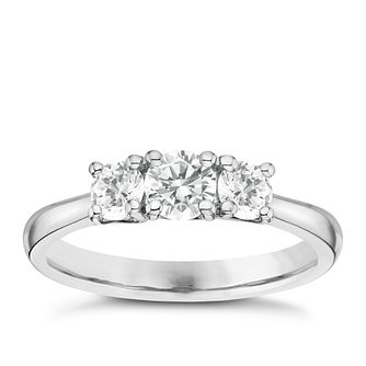Platinum 0.75ct 3 Stone Diamond Ring - Product number 6365418