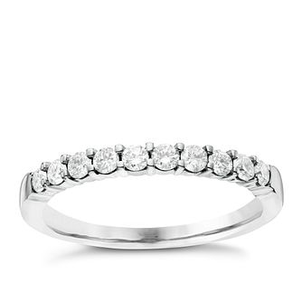 18ct White Gold 0.33ct Diamond Eternity Ring - Product number 6367380