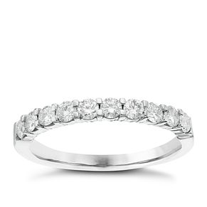 18ct White Gold 1/2ct Diamond Eternitiy Ring - Product number 6367526