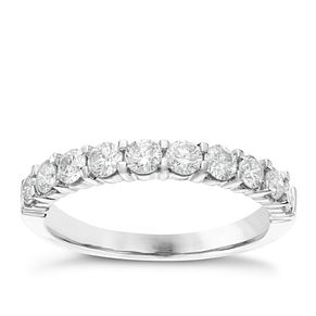 18ct White Gold 3/4ct Diamond Eternity Ring - Product number 6367658