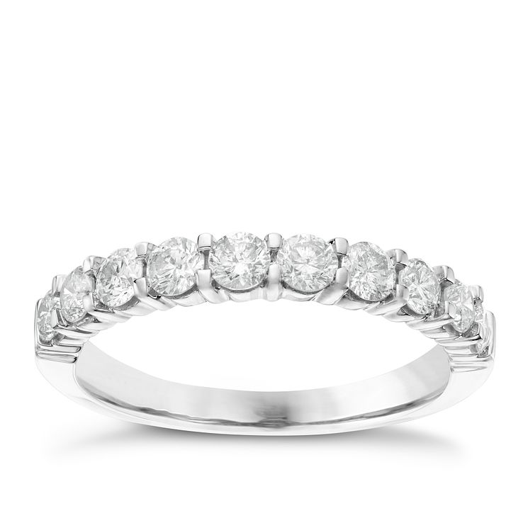18ct White Gold 0.75ct Diamond Eternity Ring - Product number 6367658
