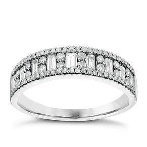 18ct White Gold 1/2ct Diamond Eternity Ring - Product number 6368182