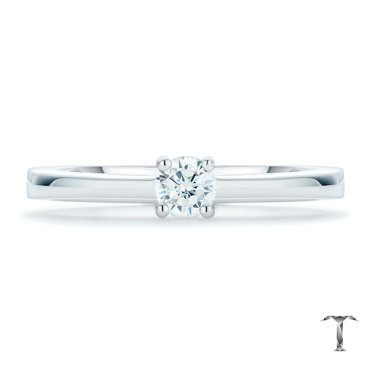 Tolkowsky 18ct White Gold 0.20ct I-I1 Diamond Solitaire Ring - Product number 6372260