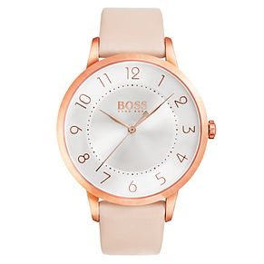 Hugo Boss Ladies' Rose Gold Tone Strap Watch - Product number 6374174