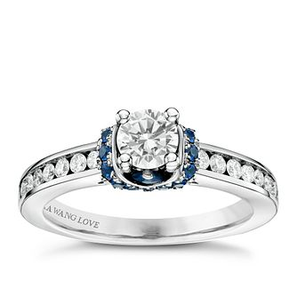 Vera Wang 18ct White Gold 0.65ct Diamond Sapphire Ring - Product number 6375499