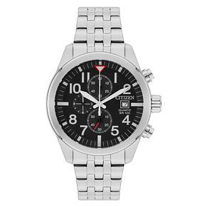 Citizen Men's Black Dial Stainless Steel Bracelet Watch - Product number 6376851