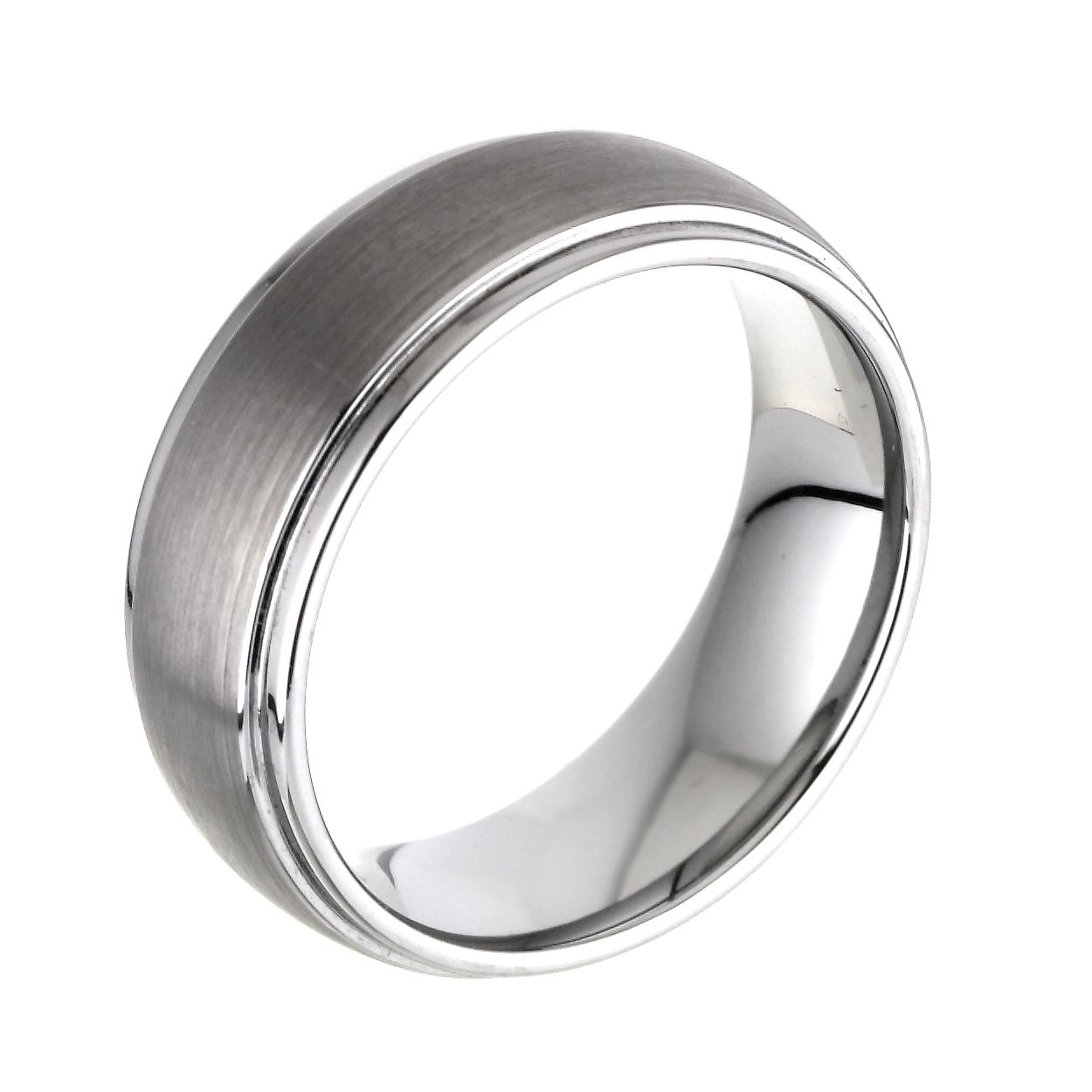 interior band brushed mens dome ring copy northernroyal products a tungsten with design wedding rings black silver