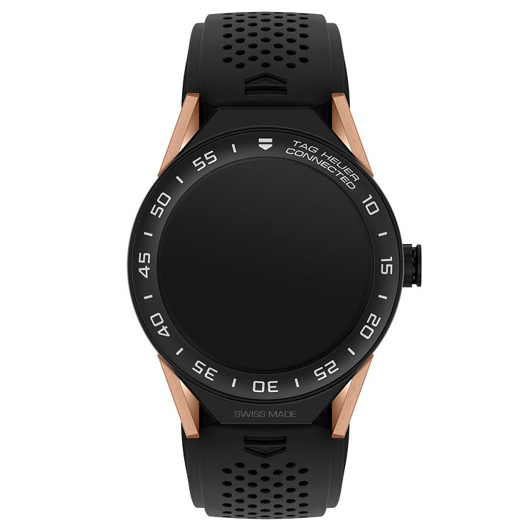 TAG Heuer Connected Modular 45 Black Strap Smart Watch - Product number 6380603