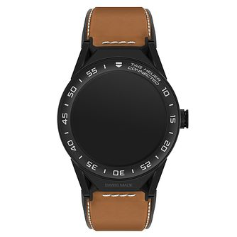TAG Heuer Connected Modular 45 Brown Strap Smart Watch - Product number 6380638