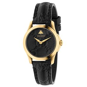 Gucci G-Timeless Ladies' Black Leather Watch - Product number 6382509