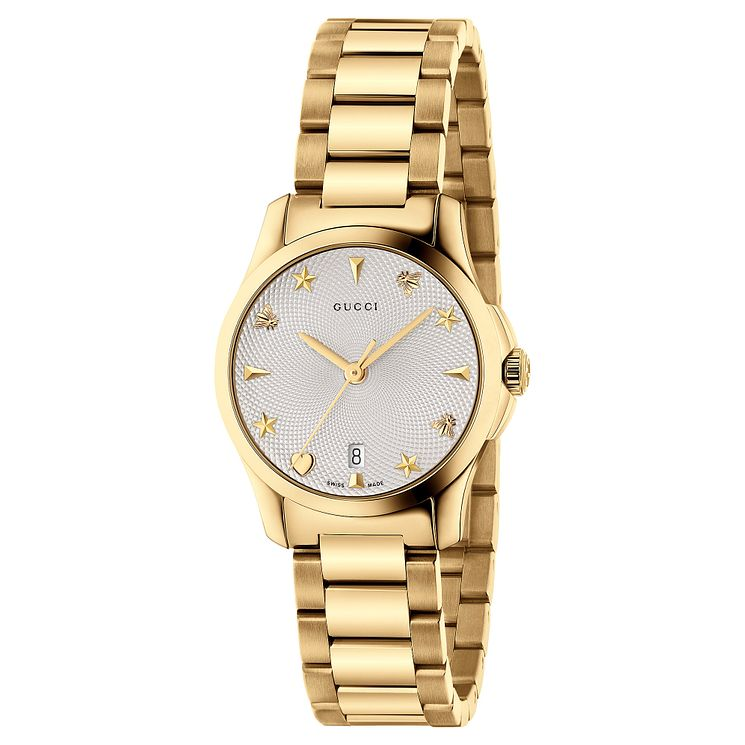 Gucci G-Timeless Ladies' Gold Plated Bracelet Watch - Product number 6382533