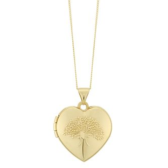 9ct Yellow Gold Tree of Life Design Locket - Product number 6382967