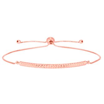 9ct Rose Gold Patterned Bolo Bangle - Product number 6383327
