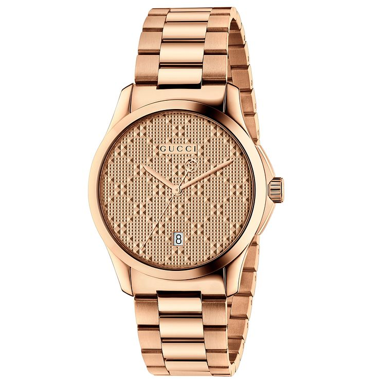 Gucci Men's Rose Gold Plated Bracelet Watch - Product number 6383351