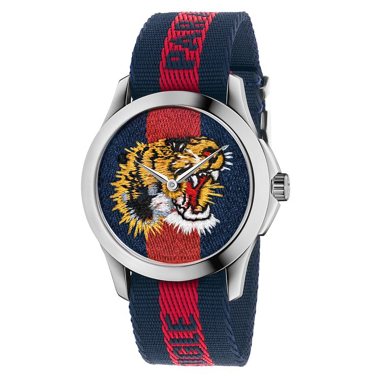 Gucci Men's Stainless Steel Tiger Strap Watch - Product number 6383394