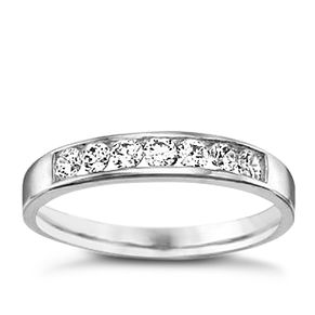 9ct White Gold Cubic Zirconia Ring - Product number 6390900
