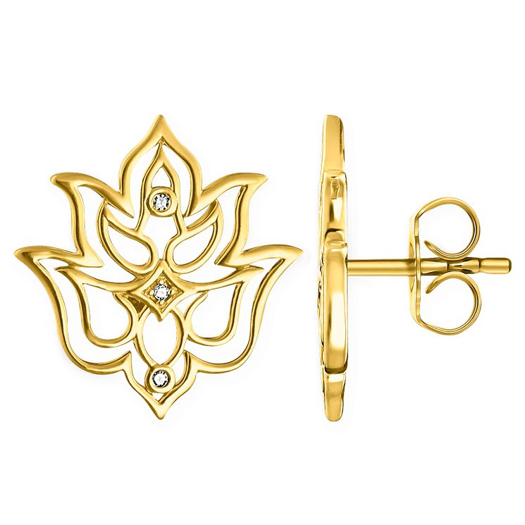 Thomas Sabo Glam & Soul Yellow Gold Lotus Stud Earrings - Product number 6391273