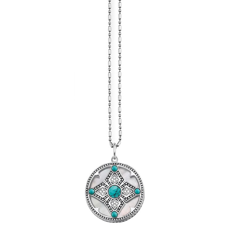 Thomas Sabo Ethnic Turquoise Diamond Amulet Necklace - Product number 6391516