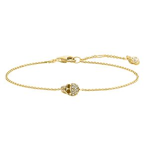 Thomas Sabo Rebel at heart Yellow Gold Skull Bracelet - Product number 6395597