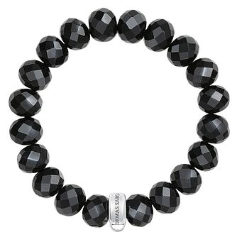 Thomas Sabo Charm Club Large Black Beads Charm Bracelet - Product number 6395686