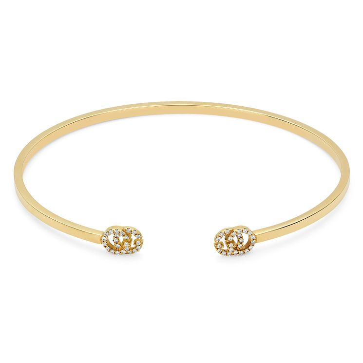 Gucci 18ct Yellow gold Diamond Open Bangle - Product number 6395805