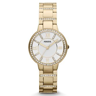 Fossil Ladies' Gold Plated Stainless Steel Bracelet Watch - Product number 6406858