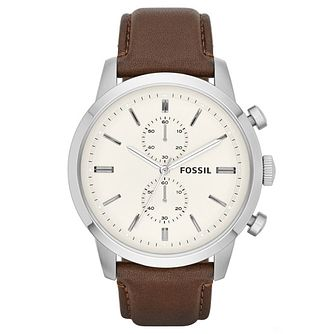 Fossil Men's Townsman Chronograph Brown Leather Strap Watch - Product number 6406912