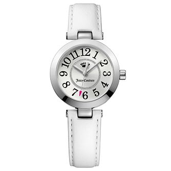 Juicy Couture White Leather Strap Watch - Product number 6409598