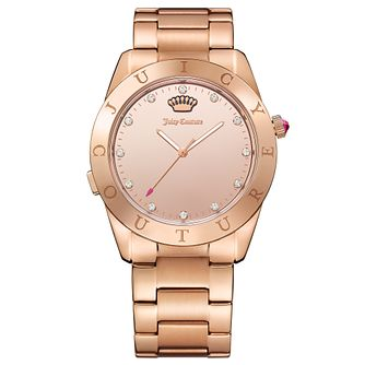 Juicy Couture Rose Gold Plated Stainless Steel Smartwatch - Product number 6409830