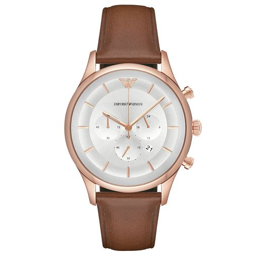 Emporio Armani Men's Rose Gold Tone Strap Watch - Product number 6409962