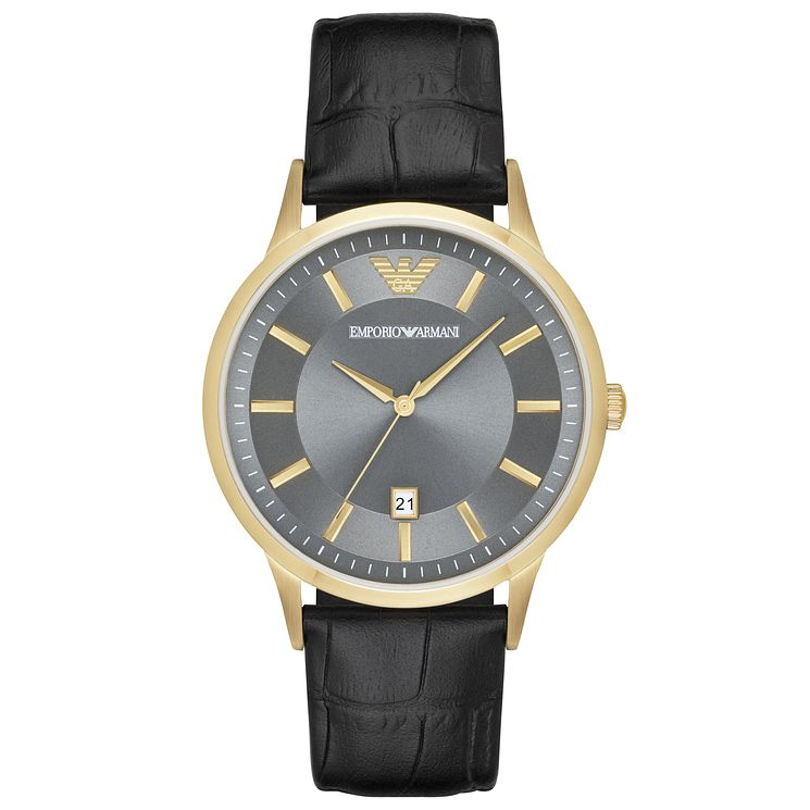 Emporio Armani Men's Gold Tone Strap Watch - Product number 6409997