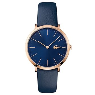 Lacoste Ladies' Blue Leather Strap Watch - Product number 6412025