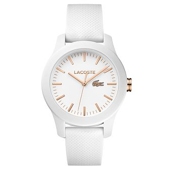 Lacoste Ladies' White Silicon Strap Watch - Product number 6412033