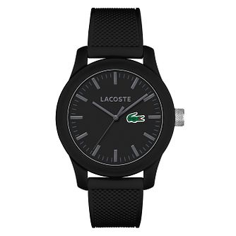 Lacoste Men's Black Silicone Strap Watch - Product number 6412343