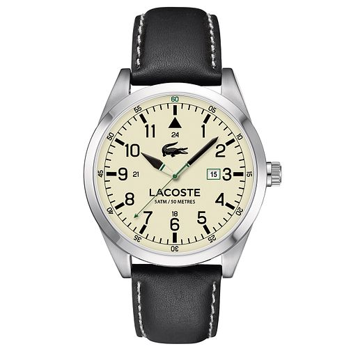 Lacoste Men's Black Leather Strap Watch - Product number 6412378