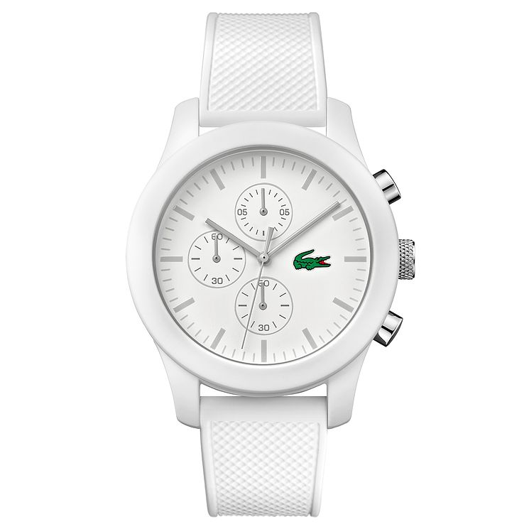 Lacoste Men's White Silicone Strap Watch - Product number 6412394