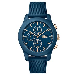 Lacoste Men's Blue Silicone Strap Watch - Product number 6412416