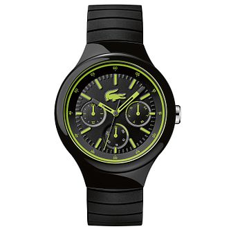 Lacoste Men's Black Leather Strap Watch - Product number 6412424